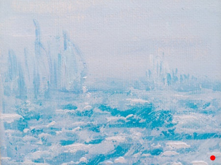 'Icescape' original seascape painting by Julie Clark