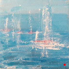 Out to sea | original painting | Julie Clark art